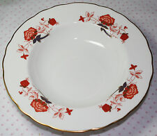 """Royal Crown Derby Bali (Ely/Chelsea) Rimmed SOUP BOWL 8-5/8""""  NEW"""