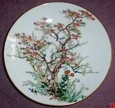Crown Staffordshire Oriental Plate Blue Robin