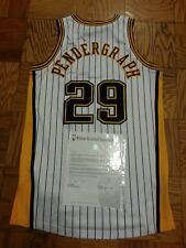Jeff Ayres (Jeff Pendergraph) Indiana Pacers HWC game worn jersey, MeiGray LOA