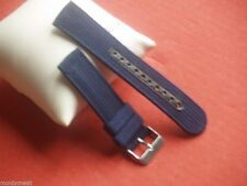 SEIKO BASIC REPLACEMENT 20mm DARK BLUE NYLON WEBBING WATCH STRAP