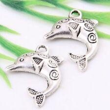 12pcs Tibetan Silver Fish Charms Pendants 31.5x22mm  (Lead-free)