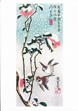 SPARROWS AND CAMELIAS REPRODUCTION WOODBLOCK PRINT BY ANDO HIROSHIGE