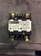 Square D Contactor Class 8910 Type DPA3Z Series A 30 Amp 2 Pole 120 Volt Coil