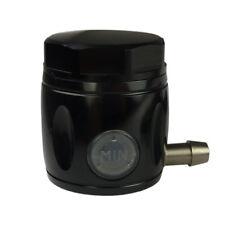 Schwarzer Aluminium Motorrad Bremsflüssigkeitsbehälter incl Halterung