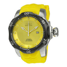 Invicta Venom Automatic Yellow Dial Yellow Silicone Strap Mens Watch 19301