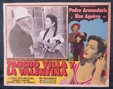 """""""PANCHO VILLA Y LA VALENTINA"""" PEDRO ARMENDARIZ ELSA AGUIRRE LOBBY CARD PHOTO 58"""