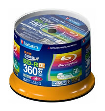 New! 50 Verbatim Bluray Disc 50GB BD-R DL 6x Speed Inkjet Printable Bluray Discs