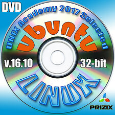 Ubuntu 16.10, 32-bit Complete Installation DVD+Linux Library CD with 52 books