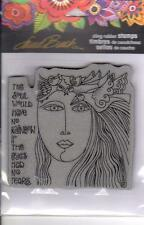 New Stampendous RUBBER STAMP LAUREL BURCH SOUL TEARS FREE US SHIP