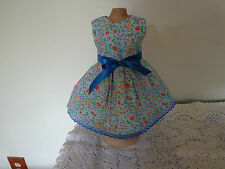 doll dress for 18 inch american girl blue purple orange yellow flower 253