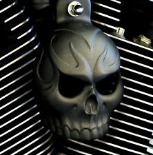 Skull Horn Cover. Textured black powder coat. Harley Davidson. SKU-PSET-1