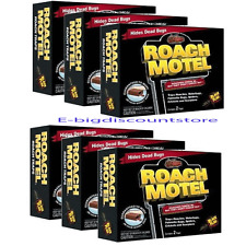 Lot of 12 Black Flag Roach Motel Cockroach Killer Bait Glue Traps 6 PK x 2= 12