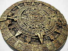 AZTEC,CALENDAR,DECORATIVE,HANDMADE,bright gold