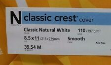 Neenah Classic Crest Natural White Card Stock 110 lb cover / 100 pack