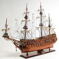 "Dutch De Zeven Provincien Tall Ship Assembled 37"" Built Wooden Model Boat New"