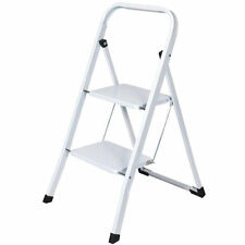 FOLDABLE 2 STEP LADDER NON SLIP TREAD SAFETY FOLDING LADDERS STEPLADDER