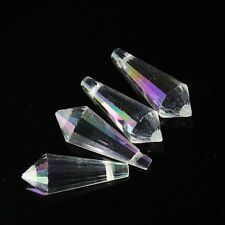 4pcs 8x20mm Swarovski cone-shape crystal beads Clear AB