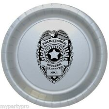 Police Badge Dessert Plate Birthday Party Supplies law enforcement