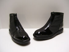 Bandolino Womens Shoes Sz 6 M US Black Patent Boots Zipup Ankle Boots