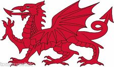 Welsh Dragon Caravan Van Car Exterior Vinyl Stickers Wales Cymru Decals x 2