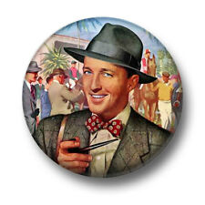 sSwell Guy 1 Inch / 25mm Pin Button Badge Retro Vintage Wise Pipe Smoking Hat