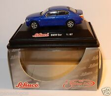 MICRO METAL DIE CAST SCHUCO HO 1/87 BMW SERIE 5 BLEU IN BOX