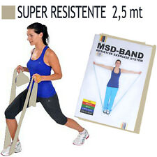 Msd FASCIA ELASTICA ARGENTO 2,5 mt SUPER RESISTENTE Lattice Band Pilates Banda