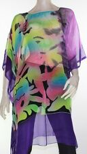 Kaftan Dress Caftan Long Plus Size 10 - 30 Women Colourful Sheer Resort Cover Up