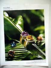 PUBLICITE-ADVERTISING :  FRED Collection Pain de Sucre  2016 Joaillerie,Bijoux