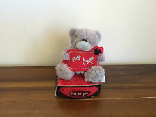 Me To You 'Hugs & Kisses' Banner Valentines Tatty Teddy Bear/Gift 3""