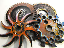 Big Rusty and Greasy Wooden Gears - Laser Cut Wood Craft Parts