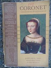 "Vintage Coronet Magazine January 1937  ""The Dice Players"" by  Mathieu Le Nain"