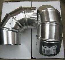 """Deflect-O DE904 4"""" X 90 Degree Aluminum Elbow Case of 12 D-2"""