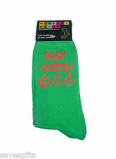 Green Christmas Socks Merry Christmas Dad in Red Great Gift for your Daddy
