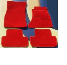 MINI FIRST /ONE / COOPER / COOPER S 2006-2014 R56 BRIGHT RED CAR MATS + VELCRO