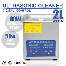 2L Ultrasonic Ultra Sonic Cleaner Bath Timer Stainless Steel Tank Cleaning UK