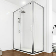 Box doccia 100x70 cm scorrevole angolo ingresso frontale trasparente reversibile