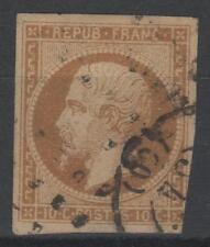 """FRANCE  N° 9 a """" LOUIS-NAPOLEON 10c  BISTRE-BRUN 1852 """" OBLITERE A VOIR N141"""
