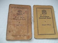 2 Vintage Books From Birmingham Municipal Bank Shows Payments etc- 1941 - 1956
