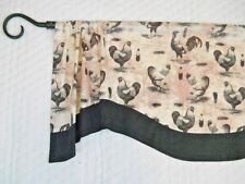 FRENCH COUNTRY~ROOSTER~TOILE~Black~Gray~White~Dot~Valance~Curtain~TOPPER~Valance