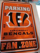 Cincinnati Bengals Fan Zone Parking 12x18 Sign