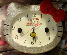 Bling Bling Hello Kitty Crystal Diamond Wall Clock! Best Decoration! Best Gift!