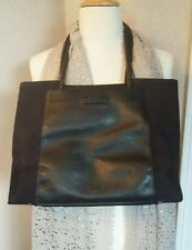 TUMI PREMIUM BLACK LEATHER & NYLON WOMENS CLASSIC LIGHTWEIGHT TOTE PURSE BAG
