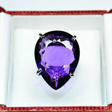 Free Shipping 59.90ct TOP AAA PURPLE SAPPHIRE WHITE SAP 925 SILVER RING 8.5,Q