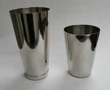 2 Piece Martini BAR COCKTAIL SHAKERS Stainless Steel Boston Flair Mixing Tin Set
