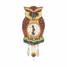 Alexander Taron 201 Owl with Moving Eyes Small Wall Clock