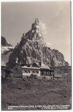 80001 TRENTO RIFUGIO CAPANNA CERVINO - PASSO ROLLE Cartolina FOTOGRAF viagg 1952