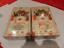 2 BOX LOT 1992 ALL WORLD CFL FOOTBALL TRADING CARDS W/ FLUTIE,FOIL INSERTS+MORE