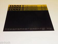Microfich Ersatzteilkatalog Claas Claas - Dominator 96 Stand 10/1985
