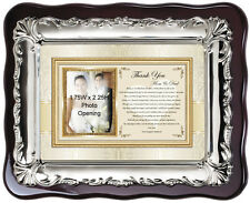 Wedding thank you gift personalize picture frame for parents from bride daughter
